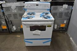 Hotpoint Rbs360dmww 30 White Freestanding Electric Range Nob 92592