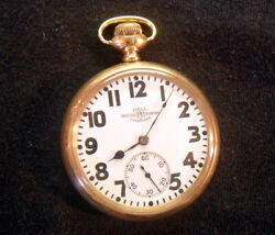 M19 Ball Hamilton 999p 16s 21j Official Standard Railroad Pocket Watch Very Nice