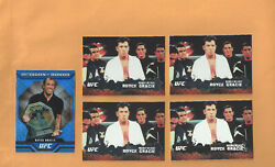 5 Royce Gracie Rcs 4 2009 Topps Ufc Round 2 Rcs Including 1 Silver /188++