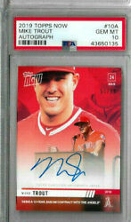 2019 Topps Now Mike Trout Auto Psa 10 /99