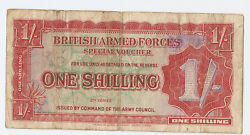 British Armed Forces 1 Shilling Nd Second Series 1948 M18a
