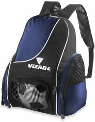 Soccer Ball Backpack Bag For Size 5 Ball Football Practice Sack Sports Blue Pack