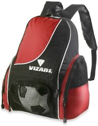 Soccer Ball Backpack Bag For Size 5 Ball Football Practice Sack Sports Red Pack