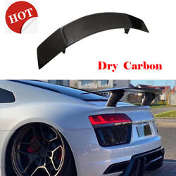Dry Carbon Rear Trunk Spoiler High Sport Wing For Audi R8 Coupe 2016-2018