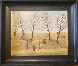Maurice Loirand1922-2008oil On Canvas Authentic Painting Signed 335x285cm