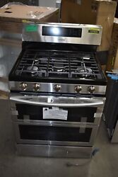 Samsung Nx58k7850ss 30 Stainless Freestanding Double Oven Gas Range Nob 107845