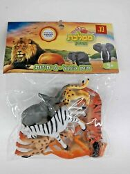 Lot Of 6 Jungle Animals High Quality Plastic Toys