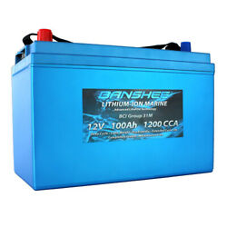 Lithium Deep Cycle Marine Battery Replaces D31m 8052-161 Sc31dm