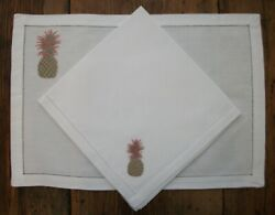 Hand Embroidered Placemats And Napkins