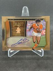Ruud Gullit 2015 Select Silver Historic Signatures Mint Auto /75