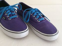 VANS Off The Wall Purple Lace Up Low Top Unisex Sneakers Shoes Men 6 women 7.5