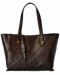 Frye Melissa Flag Leather Tote Women#x27;s Brown $159.99