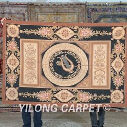 Yilong 4'x6' Handknotted French Aubusson Wool Carpets Home Tapestry Rug Mc466w