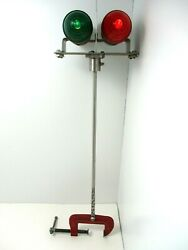 Vintageandnbspboat Lights Navigation Red - Green Bowandnbsp Chrome Battery Operated