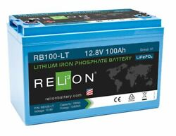 Relion Rb100 12v 100ah Low Temperature Lithium Battery