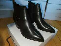 Aldo Womenand039s Leather Wrangler In Black Western Boots.