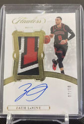 2019-20 Panini Flawless Gold Zach Lavine 3-color Patch Auto /10 Game Worn