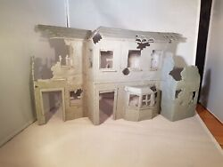 Vintage 1/32 Plastic Soldier Display Buildings - Ww2 Castle And Wild West Fort