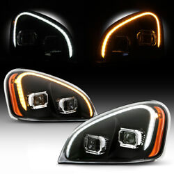 [switchback] Led Neon Tube Projector Headlights For 08-17 Freightliner Cascadia