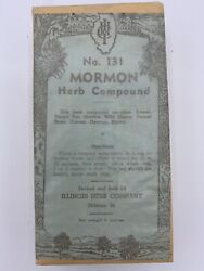 Mormon Herb Compound Vintage Antique Illinois Herb Company New Old Stock
