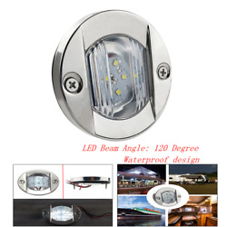 Marine Boat Yacht Stern Stainless Steel Led Light Universal Camping Trailer 2.2w