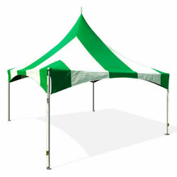 Commercial 20x20 High Peak Tent Event Party Canopy Green Striped Vinyl Gazebo
