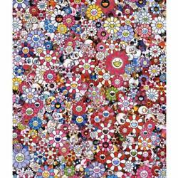 Takashi Murakami Circus Hold Peace And Darkness In Your Heart Flower Skull