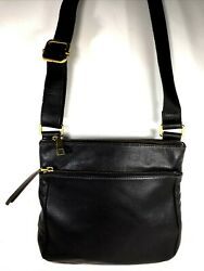 Fossil Black Leather Crossbody Shoulder Bag $29.99