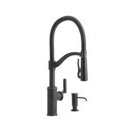Allen + Roth Talbert Oil Rubbed Bronze 1-handle Pull-down Handle Kitchen Faucet