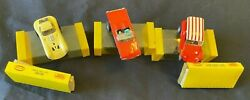 Aurora Slot Cars 3 Total Red Dune Buggy Coupe Yellow Cheetah Red T-bird Conv