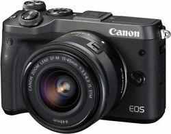 Canon Eos M6 Lens Ef-m15-45mm Black From Japan