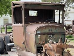 1928 1929 Model A Ford Pickup Truck Cab Body Cowl Door Firewall 28 29 Hot Rod 2