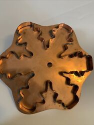 Martha Stewart By Mail Vintage Large Snow Crystal Copper Cookie Cutter