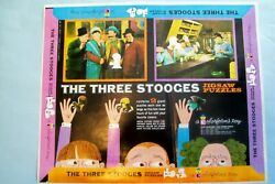 Orig. 1960 Printer's Proof For Three 3 Stooges Jigsaw Puzzles Box Lid 3 And 4