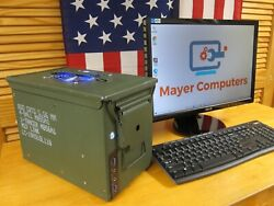 Handcrafted Computer In A Genuine Us Military Surplus Ammo Box - Free Shipping