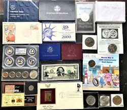 Collection Of Coins And Currency Sets Silver, Gold, Collectible Set 5