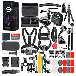 Gopro Hero9 Black With 32gb Card And 50 Piece Accessory Kit - Loaded Bundle