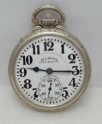 Illinois Bunn Special Type Iii 60 Hour Pocket Watch 23j 16s 14k Gold Filled