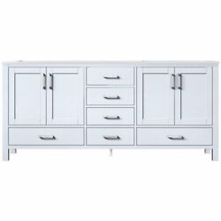 Lexora Home Jacques 72 Carrara Marble Top Double Vanity With Sinks In White