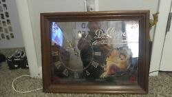 Antique Dr. Pepper Mirror Clock W/victorian Lady On Front