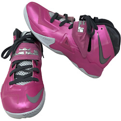 Nike Mens 2013 Lebron Soldier Vii Pink Shoes Size 8.5 599264-600 Breast Cancer
