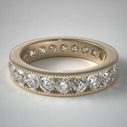 2.00 Carat Genuine Diamond Engagement Bands Solid 14k Yellow Gold Size 5 6 7 8 9