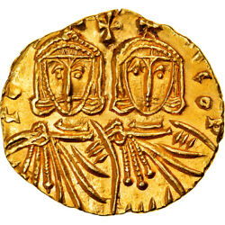 [877762] Coin Constantine V And Leo Iv Solidus 751-755 Syracuse Ms Gold