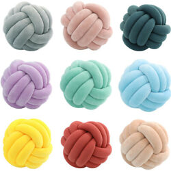 Round Ball Knot Throw Pillow Knotted Stuffed Cushion Kids Room Sofa Chairs Decor