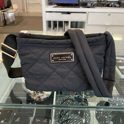 NWT RETAIL $195.00 MARC JACOBS QUILTED NYLON CROSSBODY BLACK $98.99