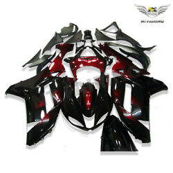 Wo Injection Mold Red Black Fairing Fit For Kawasaki 2007 2008 Zx6r 636 Abs H029