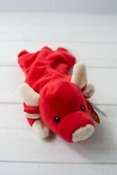 Vintage - Snort The Bull Ty Beanie Baby - 5th Gen Tags W/pvc Pellets
