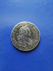 1725-g France Ecu Silver Coin Poitiers Mint Louis Xv From Le Chameau Shipwreck