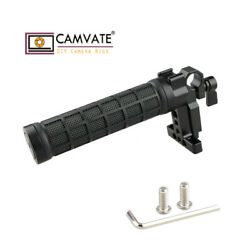Camvate Top Handle Rubber Hand Grip W/ 15mm Rod Clamp Shoe Mount For Camera Cage