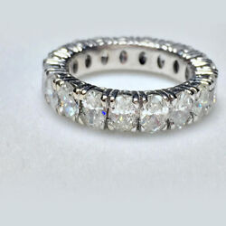 5.26 Ct Diamond Eternity Band Solid 14k White Gold Womenand039s Ring Size 6 7 8